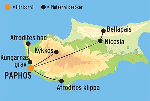 Karta Cypern Flygplats.Resa Till Cypern Och Paphos Gruppresa Med Kulturresor Europa