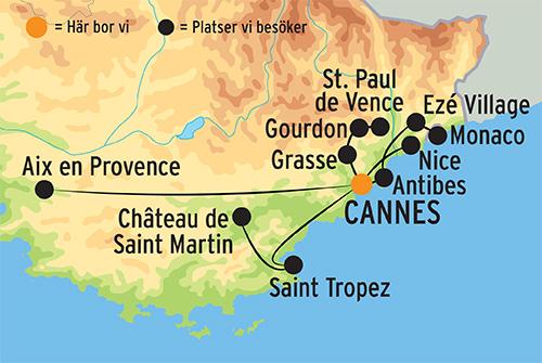 Provence Franska Rivieran 2021 Gruppresa Med Kulturresor Europa