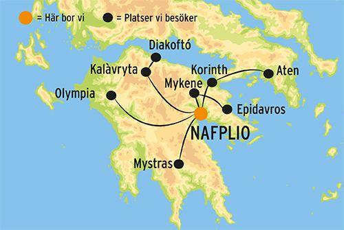 Karta Aten.Resa Till Peloponnesos I Grekland Kulturresor Europa