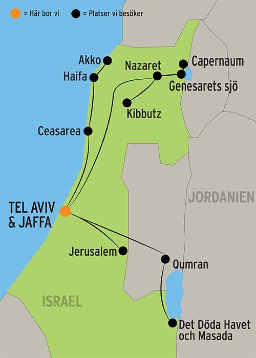 genesarets sjö karta Resa till Israel & Tel Aviv | Rundresor med Kulturresor Europa® genesarets sjö karta