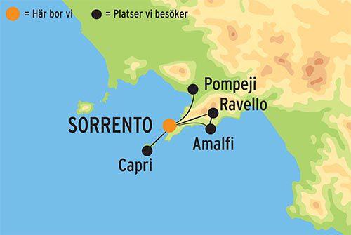 Gammal Karta Italien.Resa Till Forforande Sorrento I Italien Gruppresa Med Kulturresor