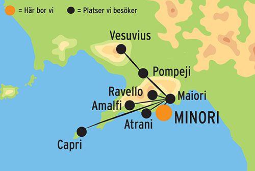karta amalfikusten Resa till Amalfikusten – Resor till Italien med Kulturresor Europa karta amalfikusten