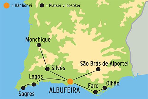 Karta Over Varldens Bergskedjor.Semester Pa Algarvekusten I Portugal Resa Med Kulturresor Europa
