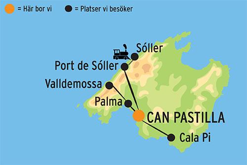 Karta Over Spaniens Vastkust.Langtidssemester Pa Mallorca Kulturresor Europa