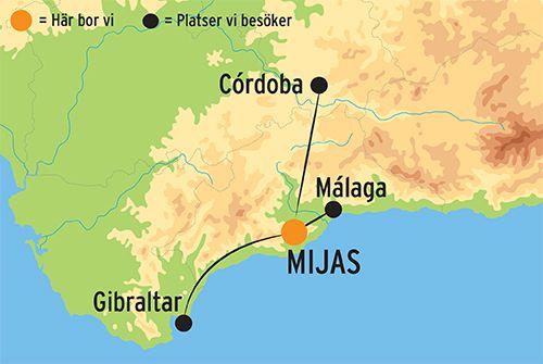 Karta Italien Spanien.Resa Till Mijas Med Utflykter I Andalusien Kulturresor Europa