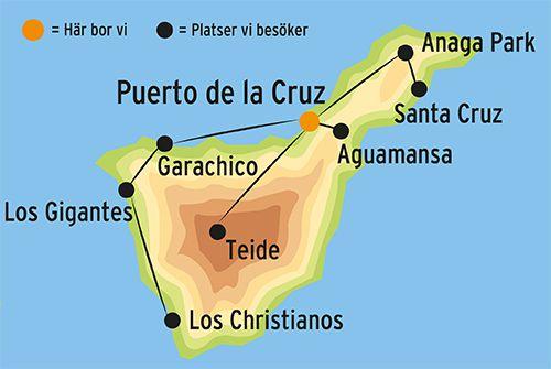 Karta Over Spaniens Vastkust.Resa Till Teneriffa Boka Gruppresa Med Kulturresor Europa