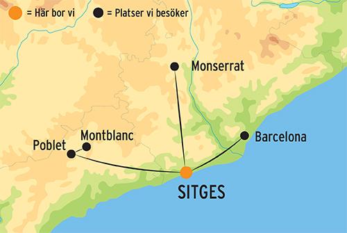 Karta Nordostra Spanien.Resa Till Katalonien Med Boende I Sitges Kulturresor Europa