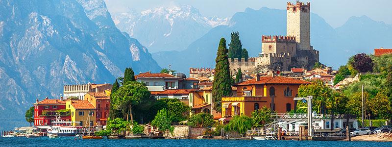 Karta Nord Italien.Resa Till Gardasjon Resor Till Italien Med Kulturresor Europa