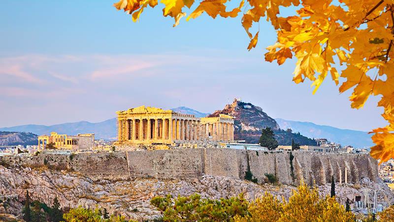 Akropolis i Athen på en resa till Grekland.