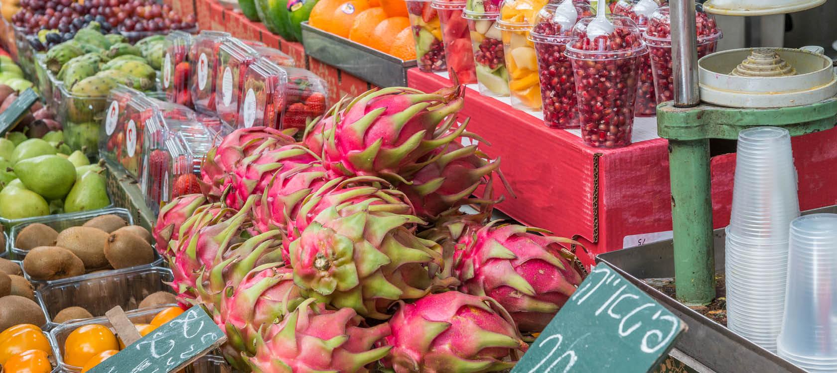 Israelisk fruktmarknad.