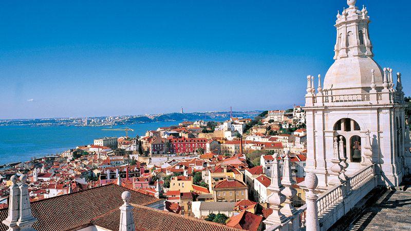 utsikt över lissabon, storstaden vid havet