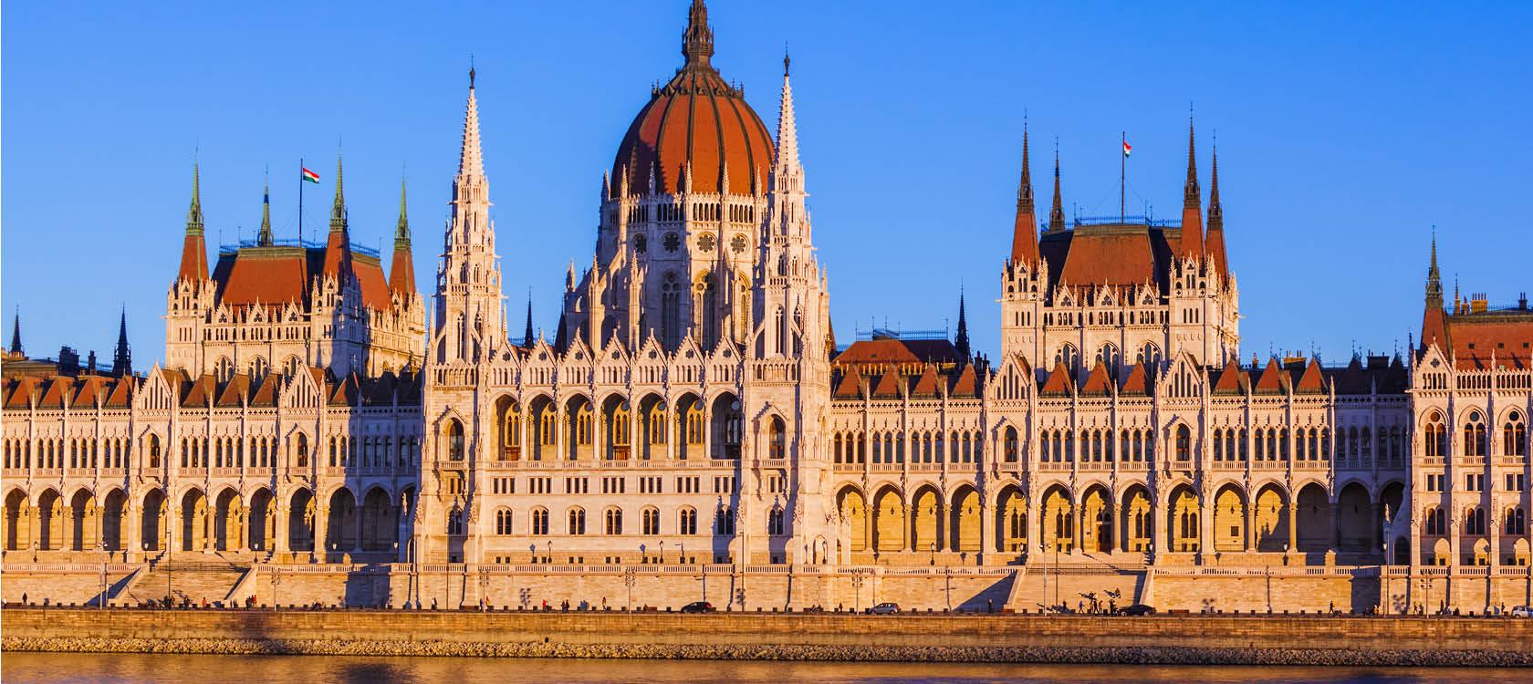 Budapest parlamentsbyggnad.