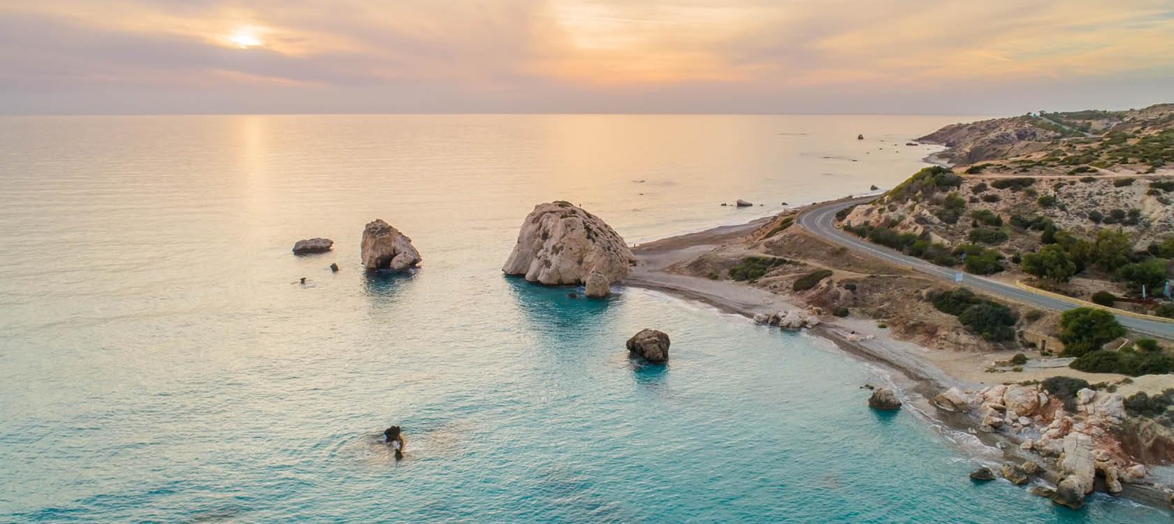 Afrodites klippa utanför Paphos på Cypern.