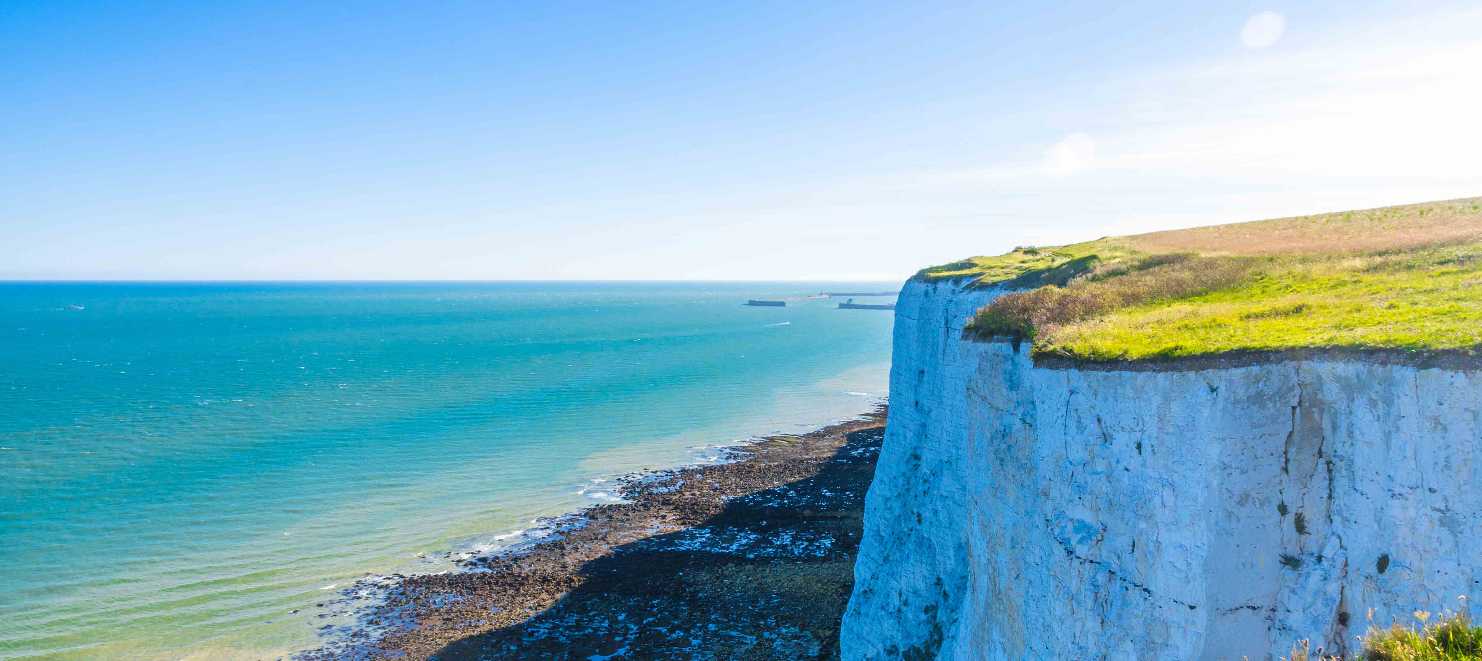 Dovers vita klippor i sydöstra England.