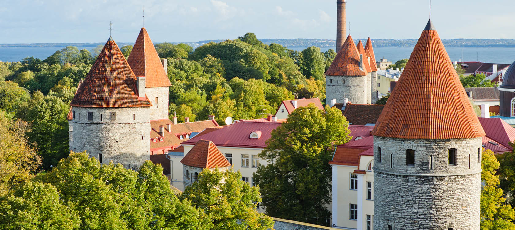 Utsikt över Tallinn i Estland.