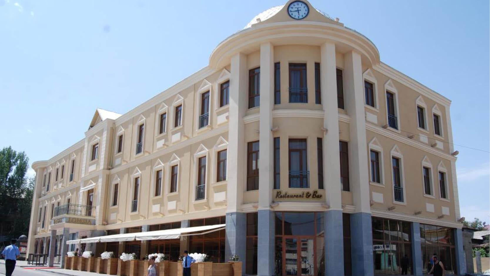 Lomsia Hotel i den historiska delen i Akhaltsikhe, Georgien.