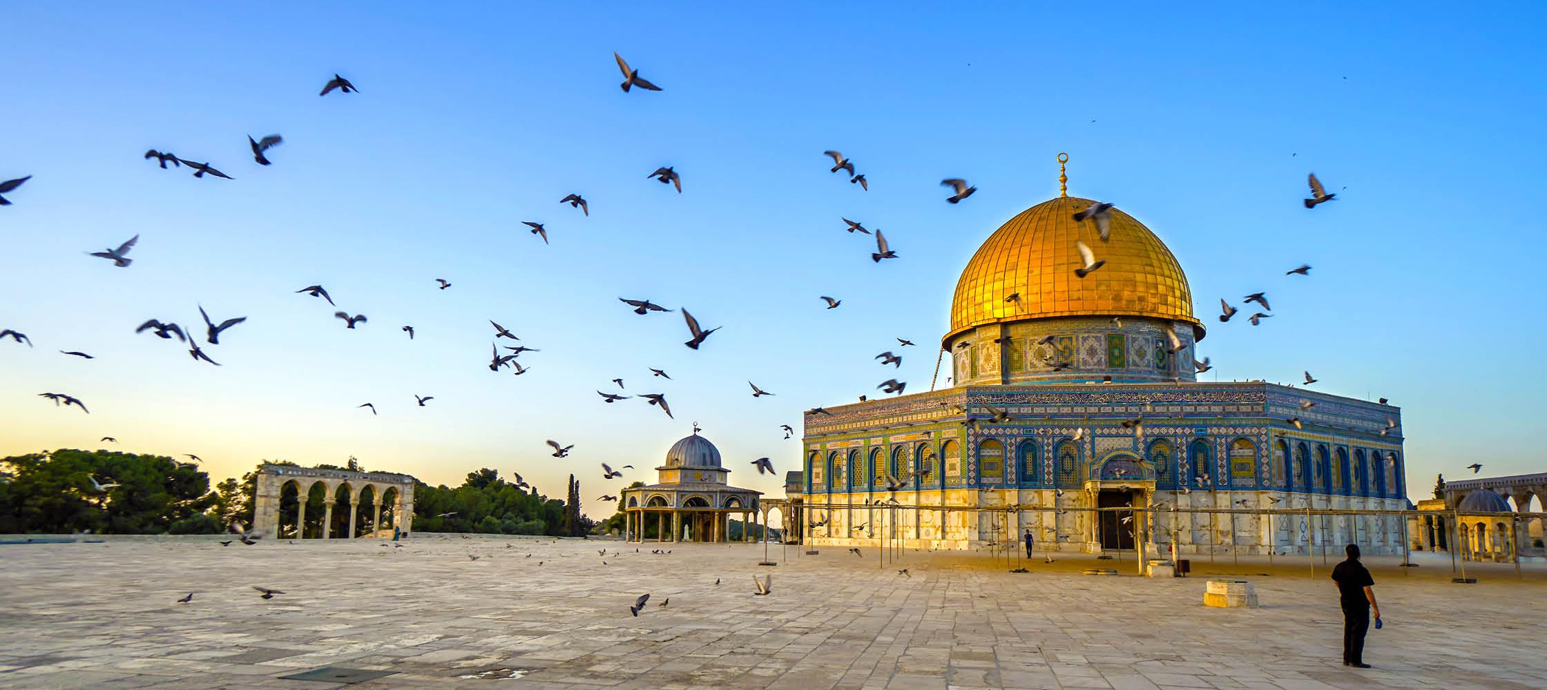 Kupolen i Jerusalem på resa till Israel.