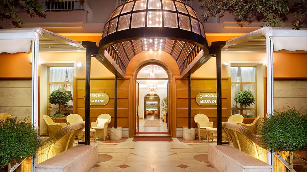 Det 4-stjärniga hotell Biondi i Montecatini Terme, resa till Italien.