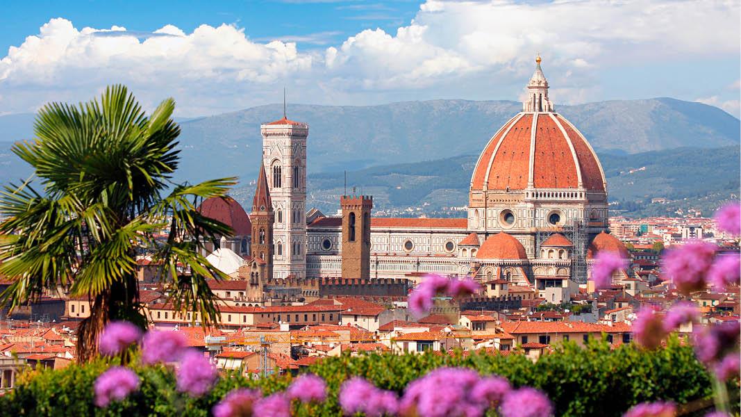 Katedralen i Florens på vår resa i Toscana