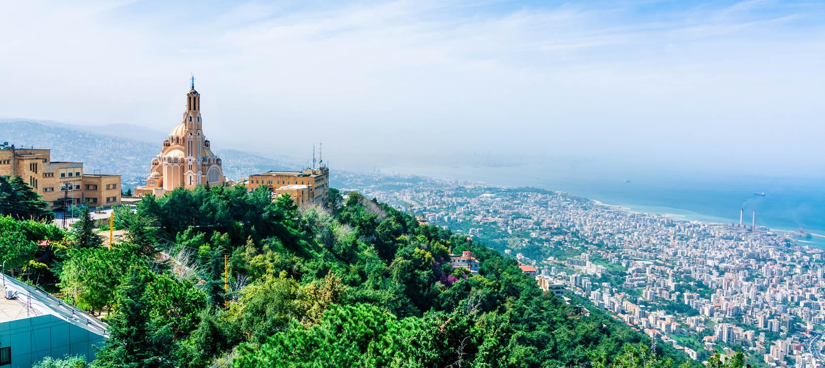 Utsikt över Beirut i Libanon.