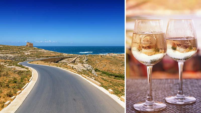 Semester på Malta med halvpension och vin och stora naturupplevelser på ön Gozo.