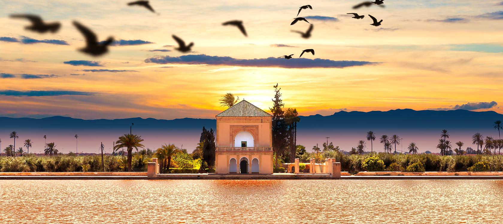Skymning i Marocko.