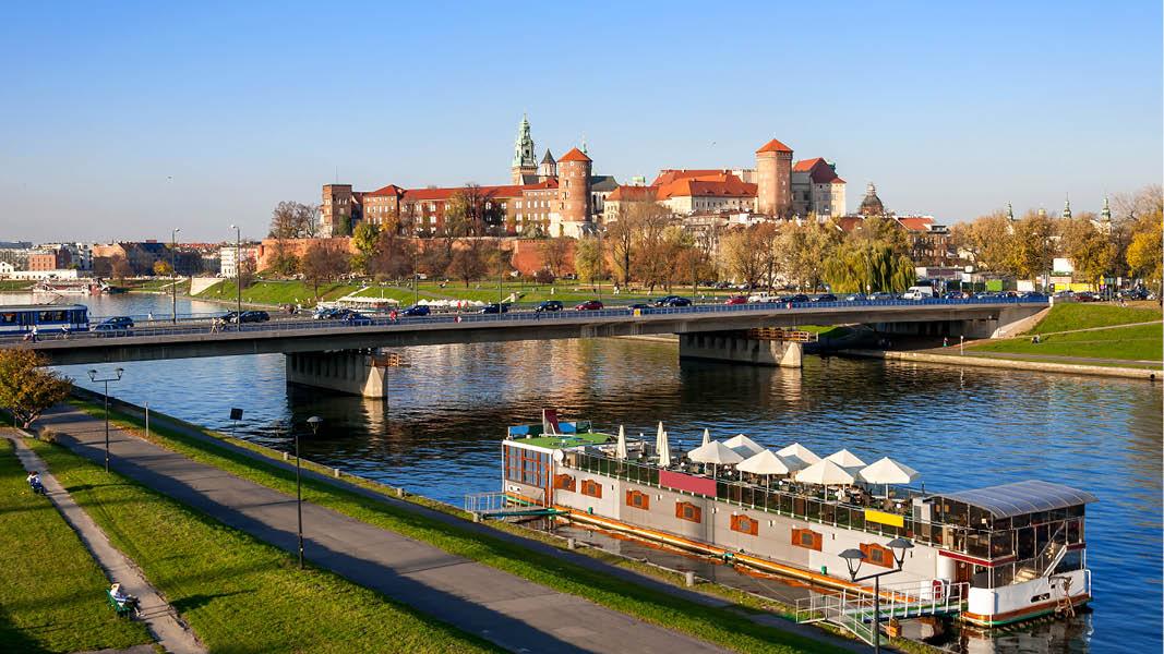 Fästningen på Wawelberget i Krakow