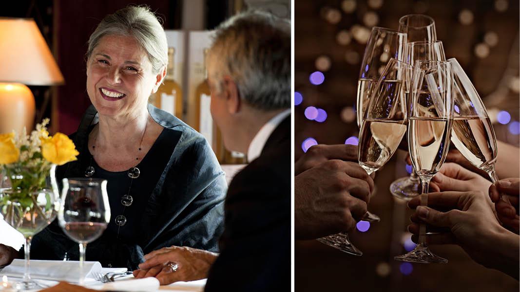 fira in nyår med champagne och vänner i krakow