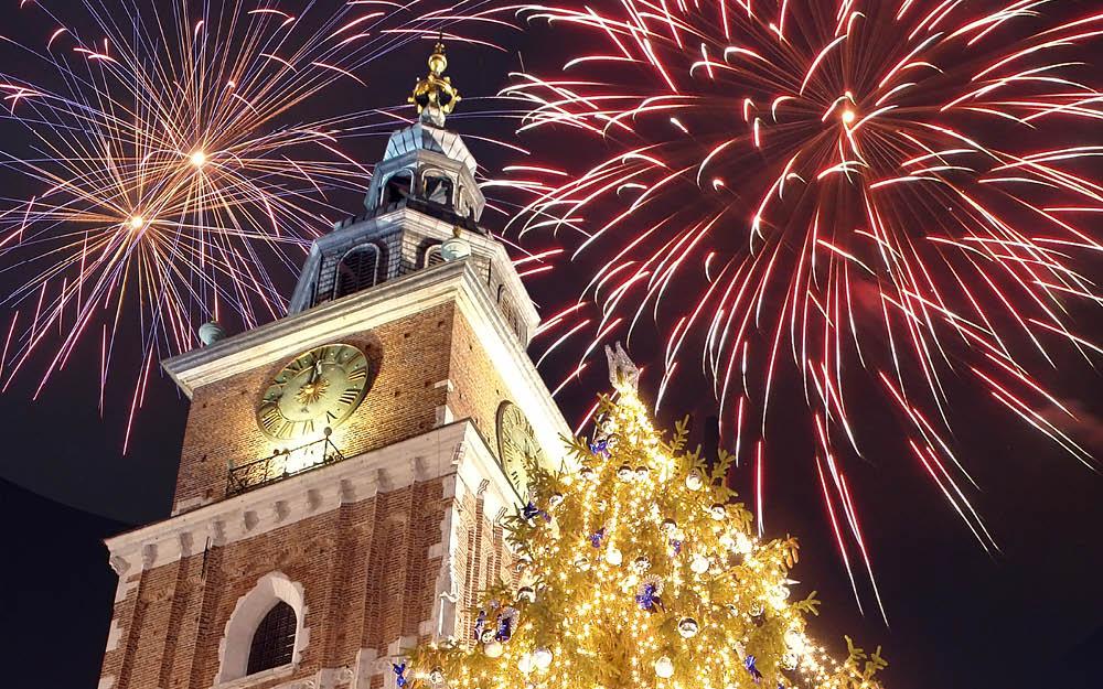 Nyår i Krakow