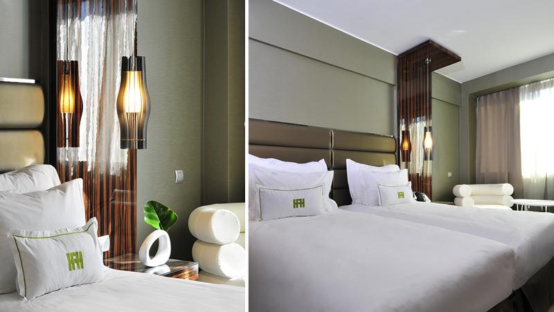 Dubbelrum med enkelsängar på hotell Altis Grand 5 stjärnor, på en nyårsresa till Lissabon.