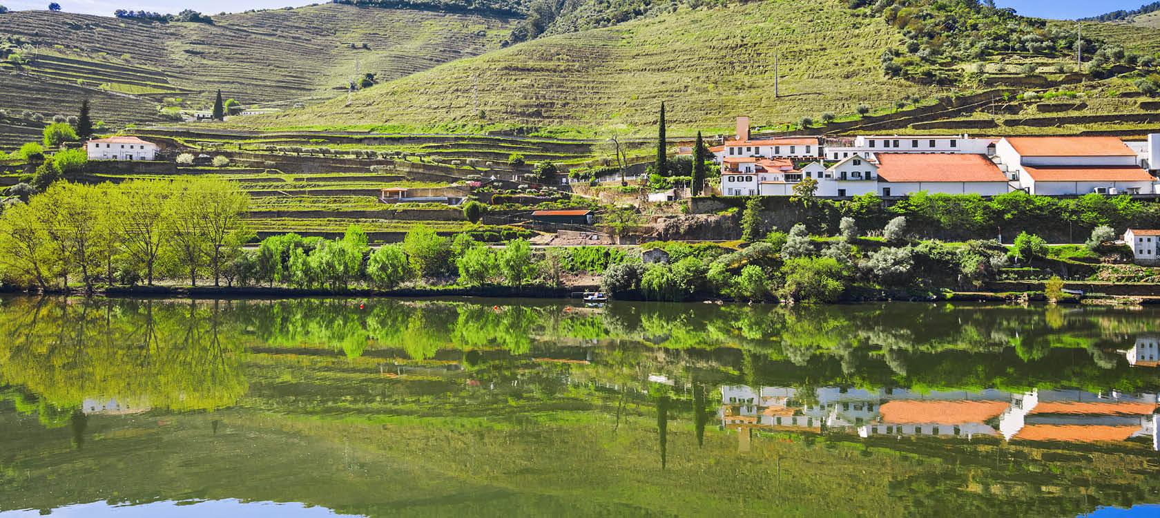 Pinhao i norra Portugal.
