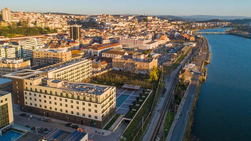 Fyrstjärnigt hotell i centrala Coimbra, Vila Galé Coimbra. På en rundresa i Portugal.