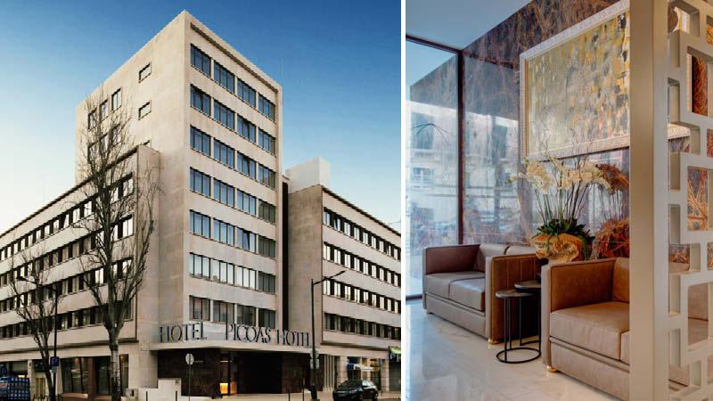 Entré / lobby på hotellet Picoas i Lissabon i Portugal.