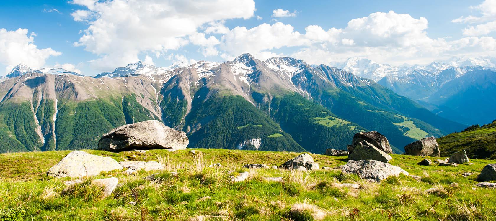 Resa till Alperna i Schweiz och Italien.
