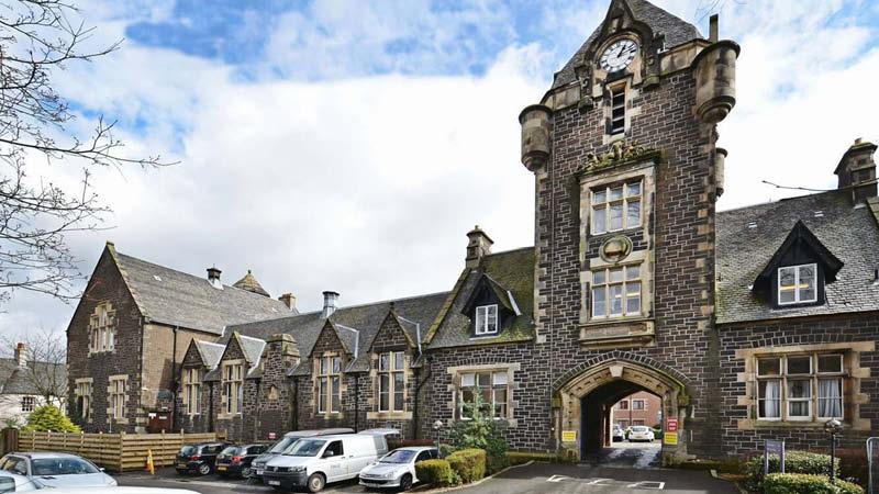 Stirling Highland hotel på en rundresa till Skottland.