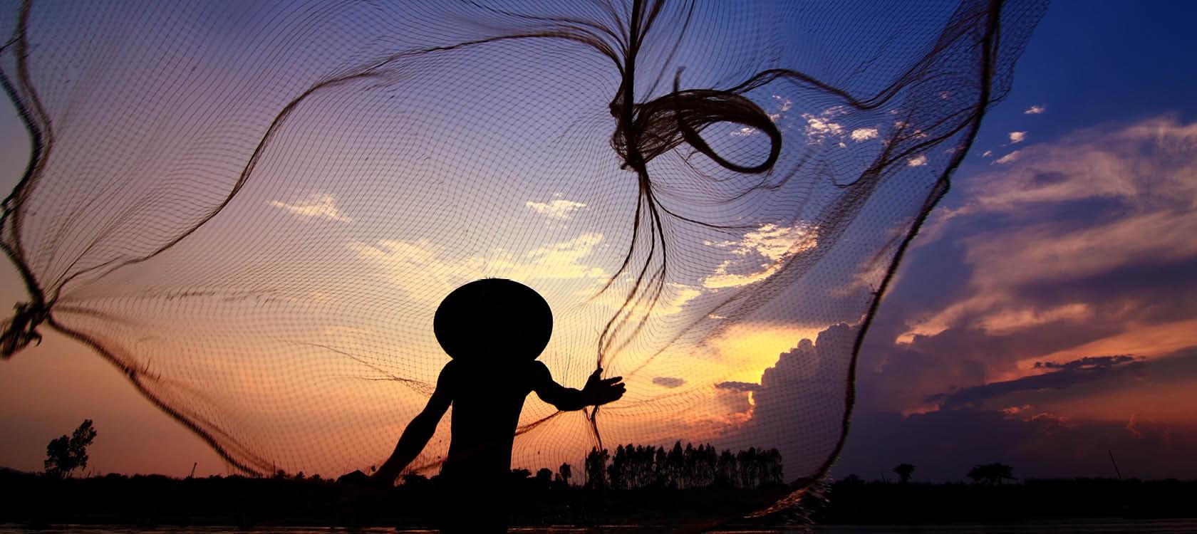 Vietnamesisk fiskare i Vietnam.